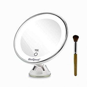 Miroir grossissant Beqool 10X, idéal pour rasage et maquillage